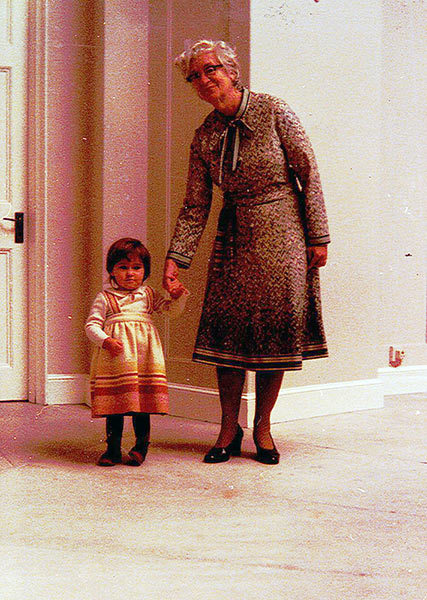 Lillias and her grand-niece, Lucie Campos Mitchell,